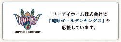 ユーアイホーム株式会社は琉球ゴールデンキングスを応援しています。