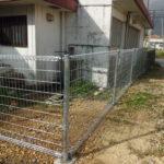 八重瀬町 駐車場 フェンス工事