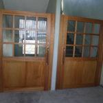 木製框ドア設置工事