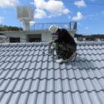 南風原町 屋根瓦 遮熱塗装工事