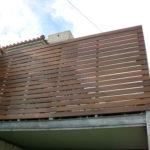 木製目隠しフェンス工事