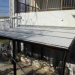 洗濯干場、テラス屋根設置工事