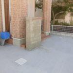 駐車場土間コンクリート工事 ブロックフェンス工事