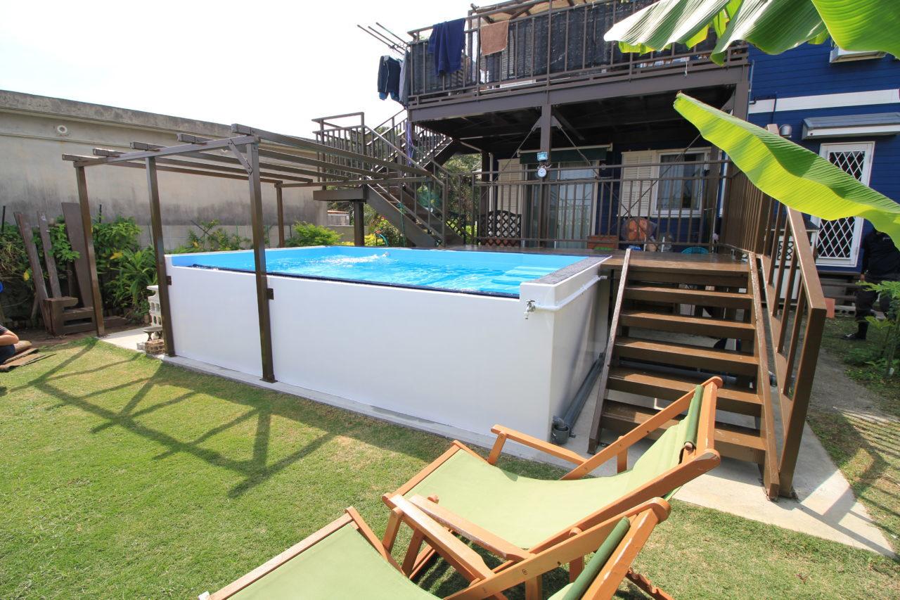 沖縄 リフォーム リノベーション プールの設置リフォーム