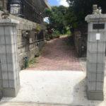 門柱と擁壁の補修リフォーム