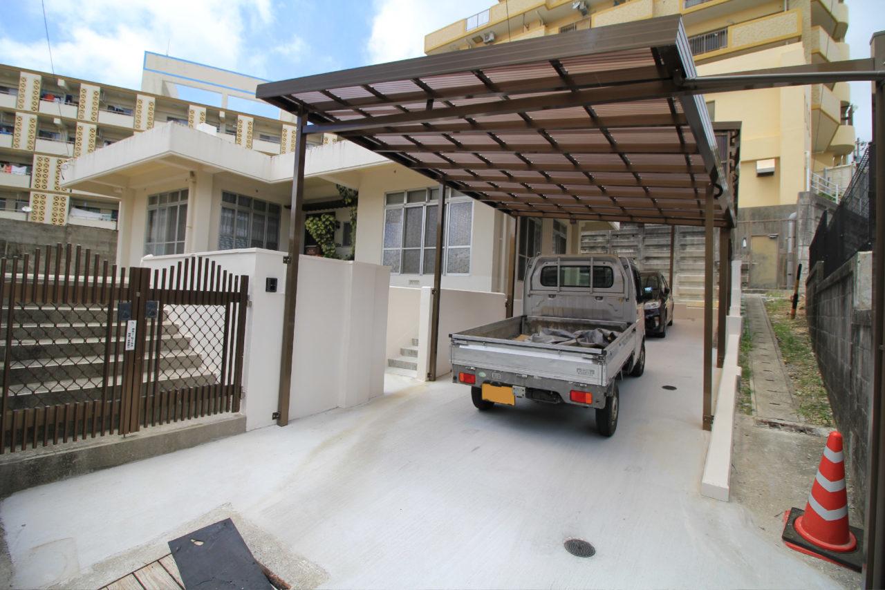 沖縄 リフォーム リノベーション カーポート 庭 玄関