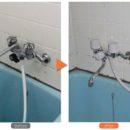 アパート キッチンと浴室の水道設備リフォーム