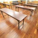 教室 床と壁、トイレの修繕リフォーム