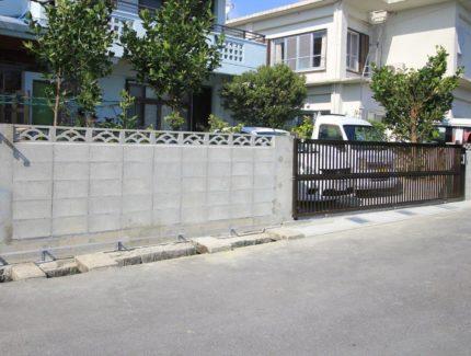 After ブロック塀と門扉