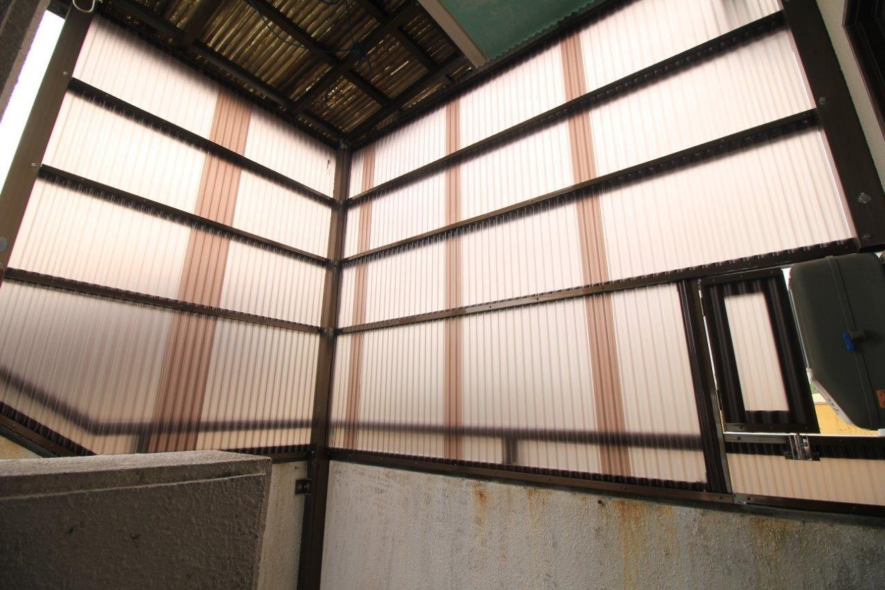 ポリカ張替え テラス 沖縄 リフォーム