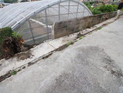Before フェンスの設置
