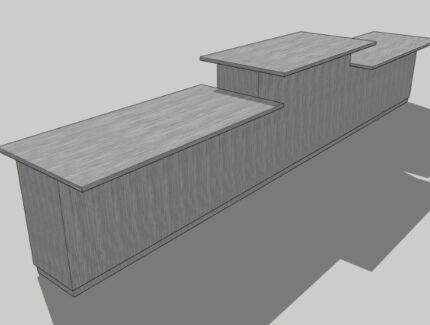 受付カウンター 3Dイメージ図2