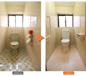 トイレ 床と便器のリフォーム