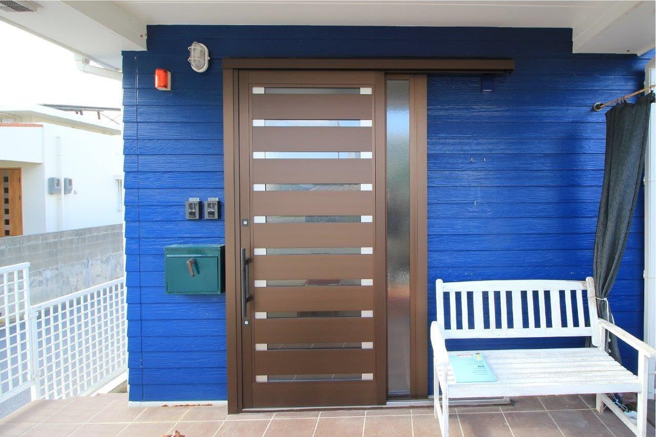 YKKap 玄関ドア カバー工法 沖縄 リフォーム